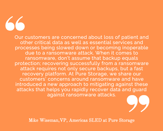 State and Local Health Departments Defeat Ransomware with Pure Storage